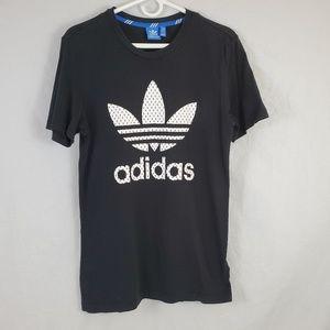 Adidas Graphic TShirt Black White Medium (612)
